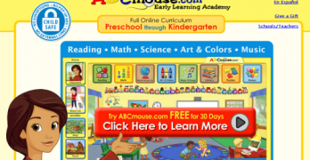 parent kids friendly site ABC mouse pre pre-K from kamaron insttute